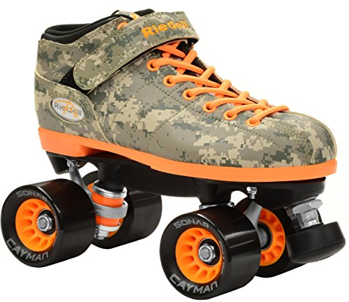 New Riedell R3 Digital Camo Quad Roller Derby Speed Skates Men 6 Ladies 7