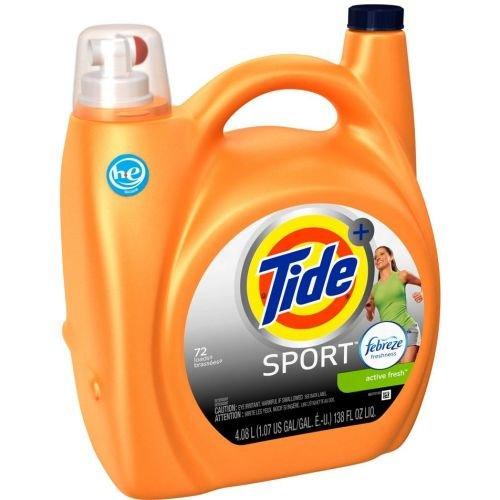 Turbo Clean Plus Febreze Sport Active Fresh Scent Liquid Laundry Detergent, 138 Ounce - 4 per case. ()
