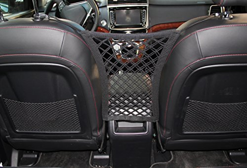 INNX Dog Barrier with Storage Net for Back Seat, Stretchable Front Seat Pet Barrier for Sedan,Suv, Mini-Van,pick up truck by (11