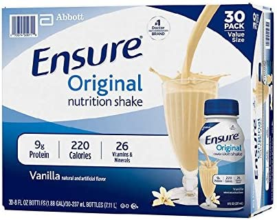 Ensure Bottles, Vanilla Shake , 8 oz Bottles, 30 count