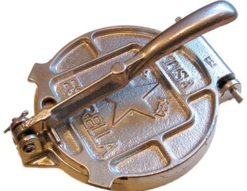 Estrella 7.5'' Cast Iron Tortilla press Heavy Made In MEXICO by Estrella