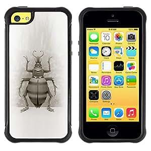 Suave TPU GEL Carcasa Funda Silicona Blando Estuche Caso de protección (para) Apple Iphone 5C / CECELL Phone case / / Bug Beetle Drawing Wings Nature Legs Art /