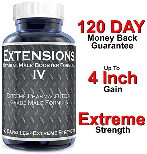 Extensions IV Testosterone Enlargement Booster Increases Energy Mood and Endurance All Natural Performance Supplement for Men ()