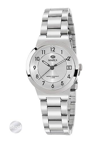 Reloj Marea Analógico de Acero para Mujer B54145/1 con Calendario: Amazon.es: Relojes