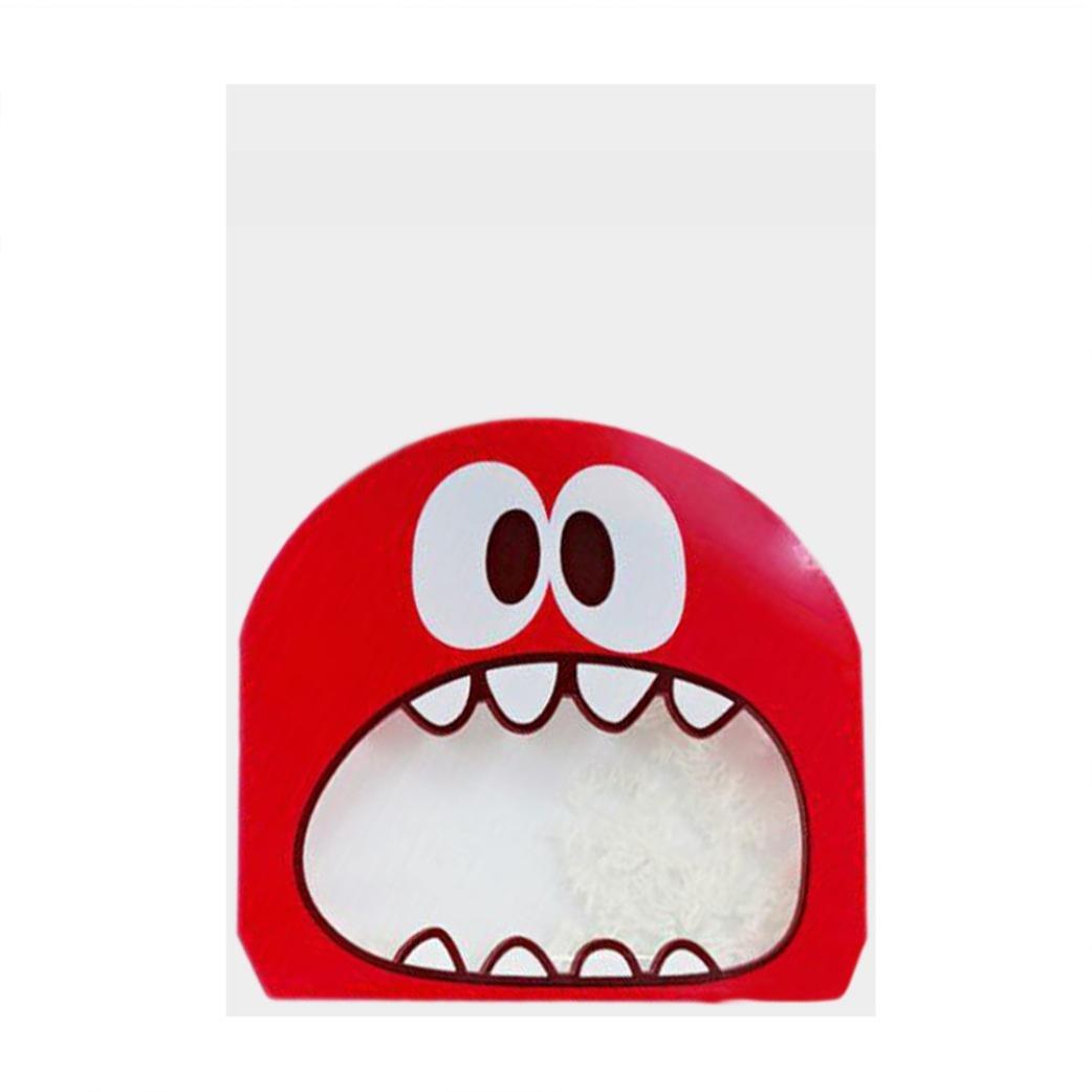 inverlee 100個自己粘着クッキーキャンディパッケージギフトバッグセロファンパーティー誕生日パケットお菓子のストレージ砂糖 B0757DJWP1 レッド レッド
