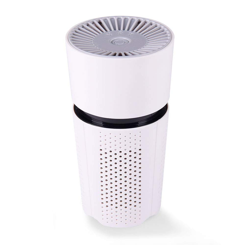 JAYWAYNE Air Purifier for Home with True HEPA Filters, 2019 Upgraded Design Low Noise Portable Air Purifier Desktop USB Air Cleaner, Air Ionizer Freshener. M5