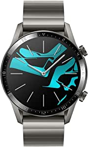 HUAWEI Watch GT 2 Smart Watch, 1.39 Inch AMOLED Display with 3D Glass Screen, 2 Weeks Battery Life, GPS, 15 Sport Modes, Bluetooth Calling Smartwatch, Titanium Grey, 46 mm