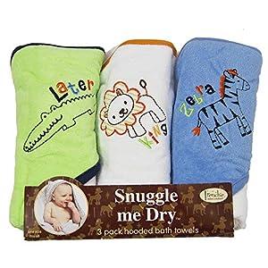 Animaux Sauvages – Set de serviettes de bain avec capuche – 3 pièces – Unisex – Frenchie Mini Couture
