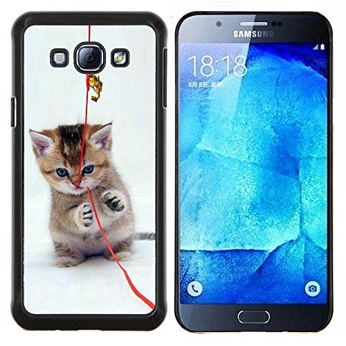 STPlus Gato en una caja Animal Carcasa Funda Rigida Para Samsung Galaxy A8 #25