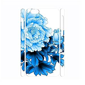 Special Cool Design Chinese Style White and Blue Porcelain Pattern Handmade Hard Plastic Phone Accessories Cover for Iphone 6 Case - 4.7 Inch by Maris's Diary