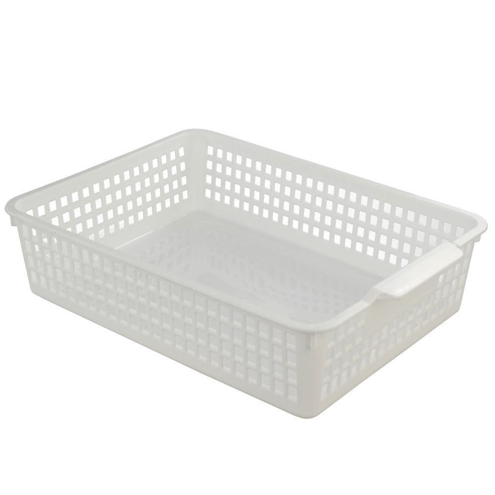 Fiaze Desktop Plastic Storage Trays Baskset Organization, 3-Pack