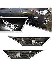 2pcs JDM Led Side Marker Light for Honda Civic Sedan/Coupe/Hatchback 2016-up Smoked Lens Turn Signal Lights Replace OEM Halogen Sidemarker Lamps White Led Light Bulbs OEM#H02551127N