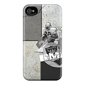 Great Hard Phone Covers For Apple Iphone 4/4s With Allow Personal Design Vivid Oakland Raiders Image MarcClements