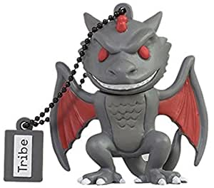 Tribe Games of Thrones Pendrive Figure 16 GB Funny USB Flash Drive 2.0, Keyholder Key Ring, Drogon (FD032504)