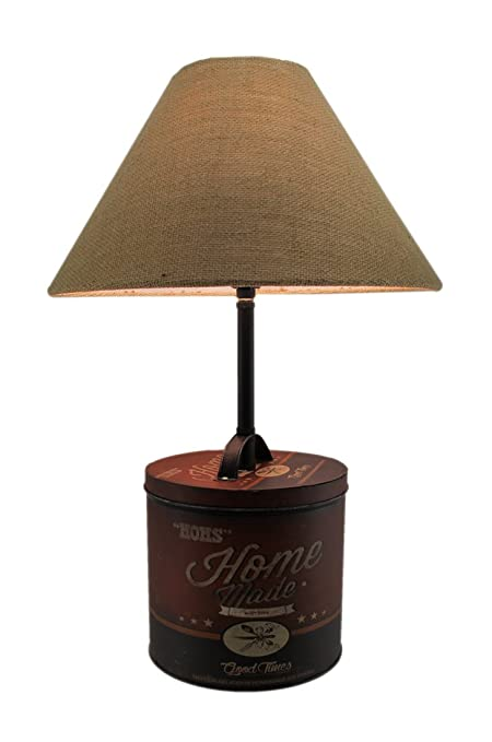 Beautiful Metal Table Lamps Moms Homemade Good Times Antique Tin Table Lamp 13.75 X  21.5 X 13.75