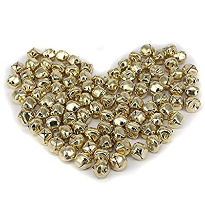 Pack of 100 15mm Iron Ball Jingle Bells for Jewelry Making DIY Decoration Gold