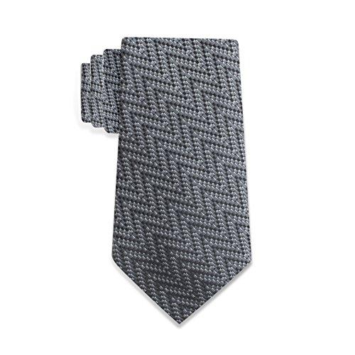 Countess Mara 100% Silk Lazio Abstract Men's Tie – Made In Italy - In Men Black Tie
