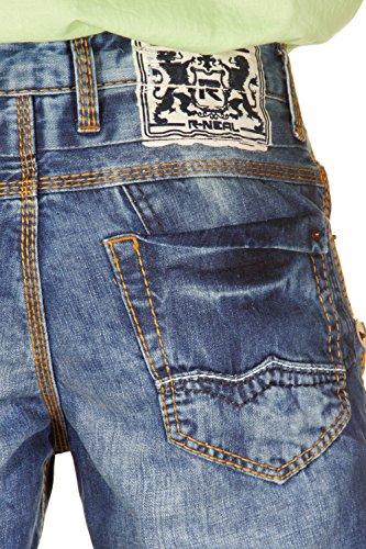 R-NEAL Jeans Regular Fit (blau/orange)