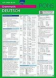 PONS Grammatik auf einen Blick Deutsch: Alle wichtigen grammatischen Themen auf einen Blick (PONS Auf einen Blick, Band 19)