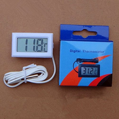 (1 PCS LCD Digital Temperature Meter Controller for Freezer Indoor Outdoor Thermometer with 1 Meter Cable With Retail Box)