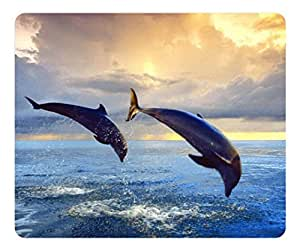 Brain114 High Quality Textured Surface Back Home Dolphin Non-Slip Rubber Mousepad Durable Gaming Mouse Pads