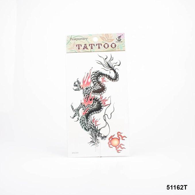 Tatuajes Negro Dragón chino con llamas y Dragon Ball: Amazon.es ...