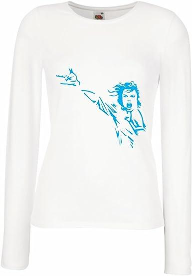lepni.me Camisetas de Manga Larga para Mujer King of Pop, me ...