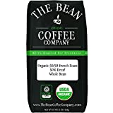 50 decaf coffee beans - The Bean Coffee Company Organic 50/50 French Roast, 50% Decaf, Whole Bean, 16-Ounce Bag