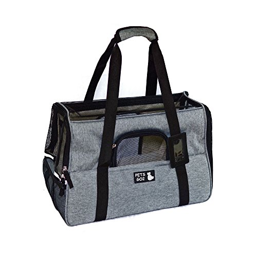 Pet Carrier for Small Dogs & Cats - Airline Approved Premium Soft Animal Carriers - Portable Soft-Sided Air Travel Bag with Two Mats - Best Tote for Small Dog and Cat - Fits Under Front Airplane (Designer Puppy Carriers)