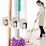 Mop And Broom Holder Multipurpose Wall Mounted Home Tool Rack Garden organizer Garage Storage Systems by URiver