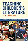 Teaching Children's Literature: It's Critical!