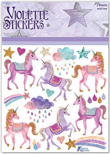 Violette Stickers Pink Unicorn
