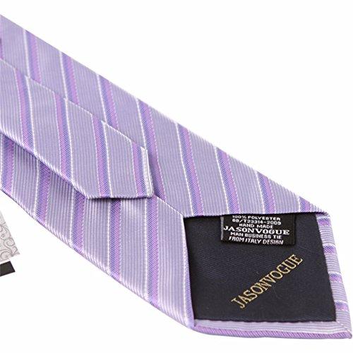 HXCMAN 9cm lavanda violeta rayas corbata Conjuntos hombre corbata ...