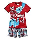 Image of Coralup Little Boys Dinosaur Short Sleeve Set 2Pcs T-Shirt&Pants,Red,9T