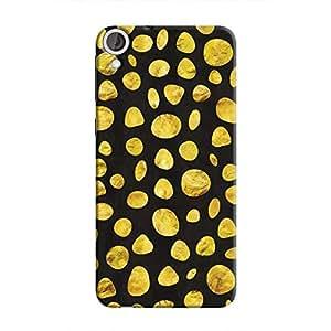 Cover It Up - Black Gold pebbles Desire 820 Hard case