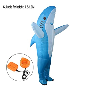 SHUFEI Traje Inflable del Tiburón, Traje Inflable Adulto del ...