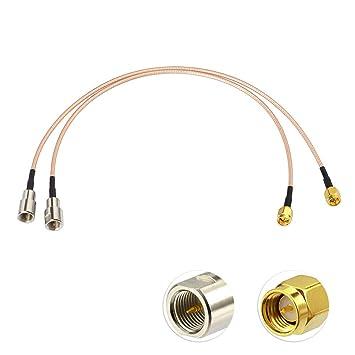 Eightwood 4G LTE Antena FME SMA Cable Adaptador RG316 30 cm ...
