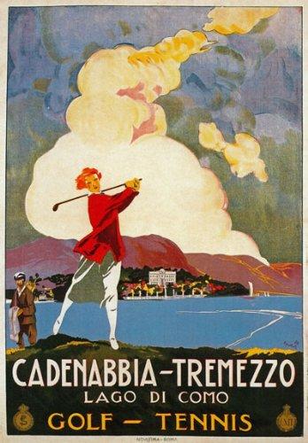 b58638607a4 TV48 Vintage 1926 Cadenabbia Tremezzo Lake Como Italy Italian Travel Poster  Reproduction Print Card - A5