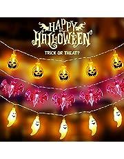 Lichtsnoer voor Halloween, 3 stuks, 1,5 m, decoratie met 10 leds, geschikt voor Halloween, Kerstmis, tuinfeest, feestdecoratie
