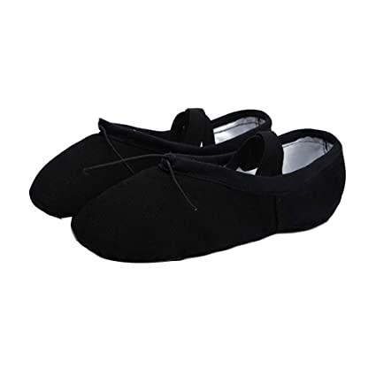 38780bbe612a0 Amazon.com : PANDA SUPERSTORE Black Ballet Shoes Ballet Shoes Split ...