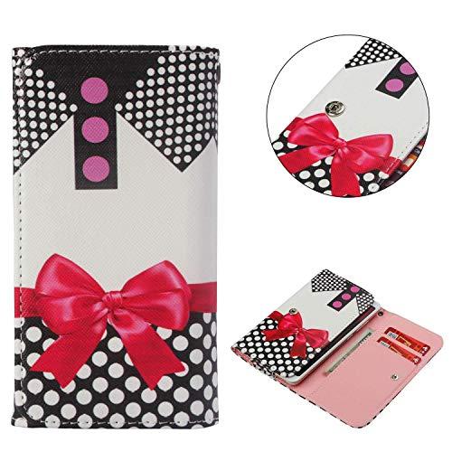 (Universal Cell Phone Flip Case, JULAM PU Leather Skin Protective Folio Case Wallet Bag Card Slots Compatible Asus Zenfone 4 Max Plus Pegasus 4 ZC550TL X015D 5.5