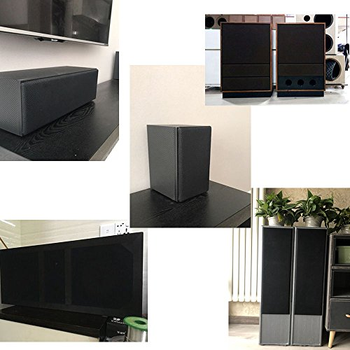 ZUINIUBI Speaker Cloth Stereo Grill Mesh Fabric Black
