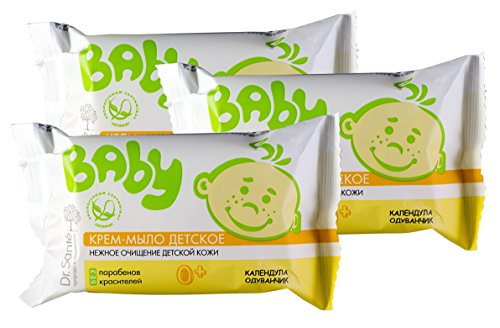 Dr. Sante Baby. Calendula & Dandelion Cream Soap (Set of 3) by Dr. Sante