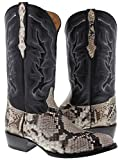 Cowboy Professional - Men's Natural Python Belly Snake Skin Cowboy Boots J Toe 13 E US