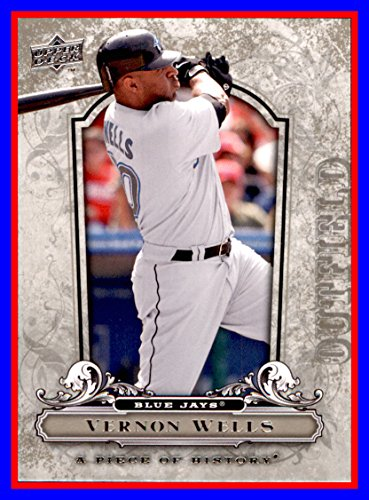 2008 UD Upper Deck A Piece of History #95 Vernon Wells toronto blue jays