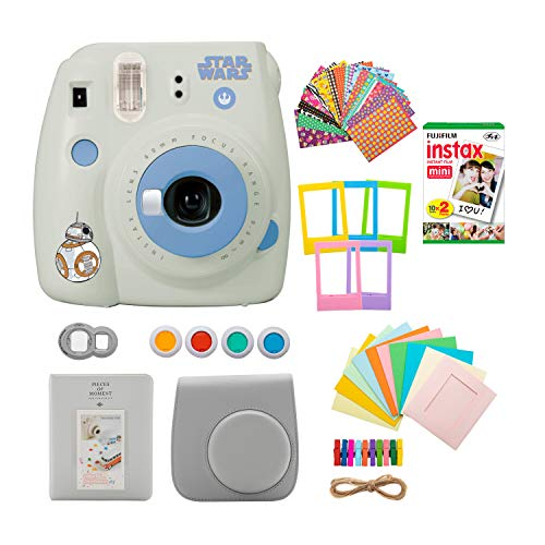 Fujifilm instax Mini 9 Instant Camera (Star Wars) with Film Gift Bundle (3 Items)
