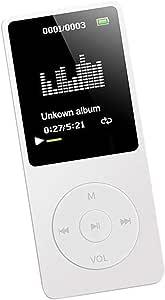 Blesiya Portable Sport HiFi MP3 Speaker Player USB Rechargeble Digital LED LCD - White, 9x4x1CM