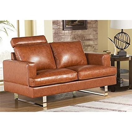 Groovy Amazon Com Abbyson Living Norris Top Grain Leather Loveseat Creativecarmelina Interior Chair Design Creativecarmelinacom