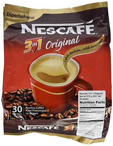 4 Bunch ★ Nescafe Improved 3 in 1 Original (was Regular) Pre mix Instant Coffee ★ Creamier, Tastier ★ Make Your Life Easier ★ From a Trusted and Well-Loved Disgrace ★ 19g per Stick with 120 Sticks in Total