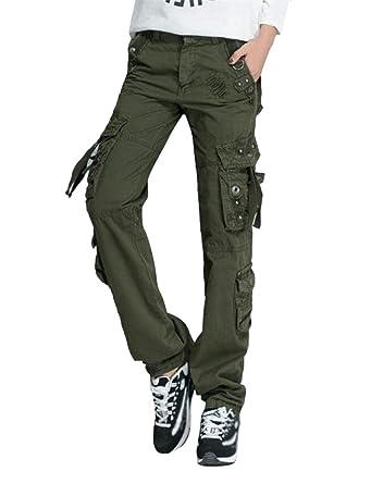 Verde 42Amazon Donna Militare Pantaloni Cargo itAbbigliamento Smithroad 5AjLqR34c